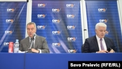 Milo Djukanovic (left) and Dusko Markovic both spoke to the Russian pranksters.