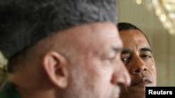Presidenti amerikan, Barak Obama, dhe homologu i tij afgan, Hamid Karzai - foto arkivi.