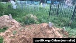 Кладбище, на котором похоронили 63-летнего Хамидилло Атаметова, скончавшегося в результате ДТП 28 апреля.