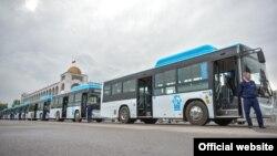 Новые автобусы в Бишкеке производства компании YUTONGBUS. 24 апреля 2019 года.