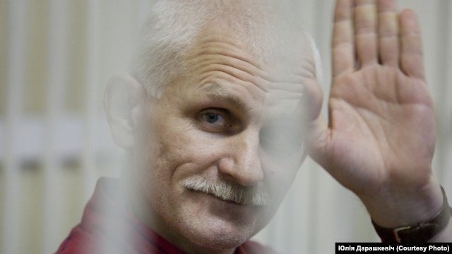 Belarus – New book chronicles the life of activist Ales Byalyatski, who was arrested in August 2011.