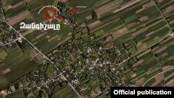 Фото, зроблене 28 квітня з повітря над районом обстрілу