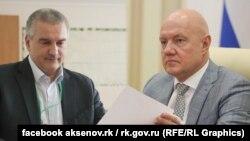 Сергій Аксенов та Віталий Нахлупін. Колаж