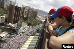 Марш протеста в Каракасе 22 февраля