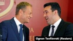 Donald Tusk i Zoran Zaev (arhivska fotografija)