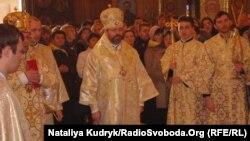 Під час літургії у соборі Святої Софії, Рим, 23 лютого 2014 року