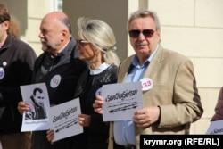 Акція на підтримку Олега Сенцова у Львові.