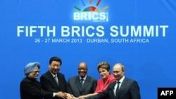 БРИКСтин лидерлери Дурбандагы саммитте. Түштүк Африка, 27-март, 2013