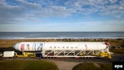 Pamje e raketës së kompanisë private Antares