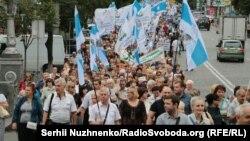 Акція протесту. організована профспілками проти підвищення тарифів та за підвищення добробуту, Київ, 6 липня 2016 року