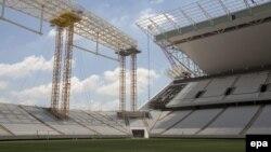 """Сан-Паулудағы футболдан әлем чемпионатының ашылу салтанаты өтетін """"Арена Коринтианс"""" стадионы, Бразилия. (Көрнекі сурет)"""