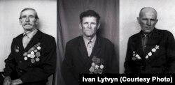 II. világháborús veteránok Hruskivkából.