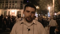 Сторонники оппозиции празднуют в центре Тбилиси