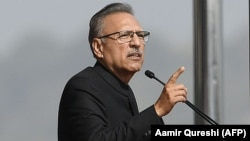 Pakistani President Arif Alvi