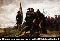 «Мазепа і Карл ХІІ на Дніпрі». Картина шведського художника Ґустава Седестрьома, 1879 рік. Тоді ж через Дніпро після Полтавської битви перебирався разом із королем та гетьманом і генеральний писар Пилип Орлик