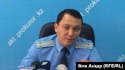 Начальник первого управления прокуратуры Актюбинской области Муратбек Мырзамуратов. Актобе, 27 июля 2016 года.