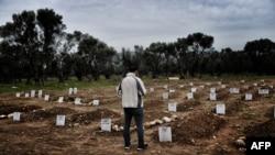 Groblje nastradalih izbeglica na moru u Mitiliniju na ostrvu Lezbos u Grčkoj