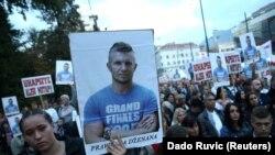 Protesti u Sarajevu zbog smrti Dženana Memića, 5.10. 2018.