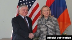 Germany - US Secretary of State Hillary Clinton and Armenian Foreign Minister Edward Nalbandian meet on the sidelines of Munich Security Conference, Munich,4Feb,2012