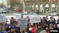 Sa jednog od sindikalnih prosvjeda u Zagrebu, Foto: Enis Zebić