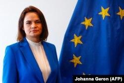 Svetlana Țihanovskaia este punctul de contact al UE cu opoziția din Belarus.