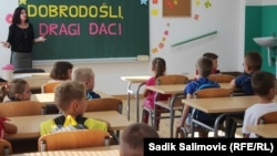 Students who are being pulled out of Konjevic Polje's school are being taught in an alternative school with a teacher from Sarajevo who is instructing them according to the curriculum of the Sarajevo canton. (file photo)