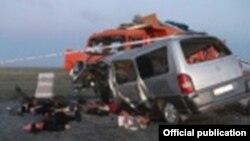 Фото с места аварии предоставлено ДВД Карагандинской области Казахстана
