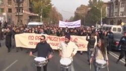 Yerevanda İnsan Haqları Günü ilə bağlı yürüş keçirilib