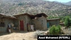 واحدة من القرى الكردية التي ضربت بعمليات الأنفال
