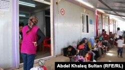 Fotografi arkivi nga një prej kampeve me refugjatë sirianë në Kurdistan