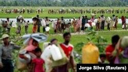 Refugjatët Rohingya.