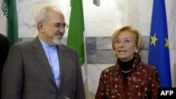 دیدار اِما بونينو، وزير امور خارجه ايتاليا، با جواد ظریف در رم