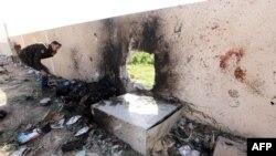 Место взрыва в ливийском городе Злитен, 7 января 2016 года.
