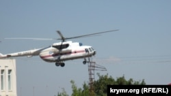 File photo of a helicopter flight in Ukraine.