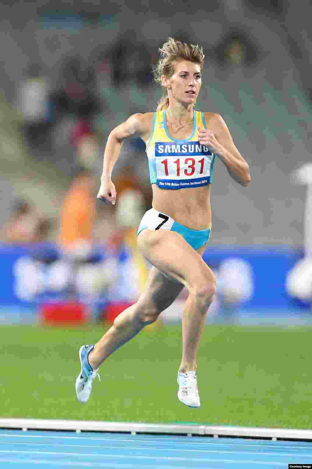 Легкоатлетка Маргарита Мукашева была первой в беге на 800 метров. Она удостаивалась звания чемпионки и на Азиаде в Гуанчжоу. Фото Никиты Басова.
