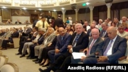 Архивно-иллюстративное фото. Съезд союза писателей Азербайджана, 2014