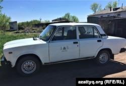 Служебный автомобиль акима сельского округа Турген. Акмолинская область, 13 мая 2021 года.