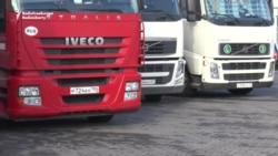 Ukraine's Blockade Leaves Borders Clogged With Russian Trucks