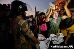 Протест против безработицы в Багдаде на площиди Тахрир, 14 июля