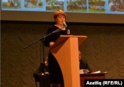 Бурятиядән килгән делегат Саҗидә Баталова
