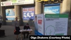 Инициативная группа жителей Иркутска собирает подписи за прекращение вырубки и экспорт леса. На фото Ольга Жакова