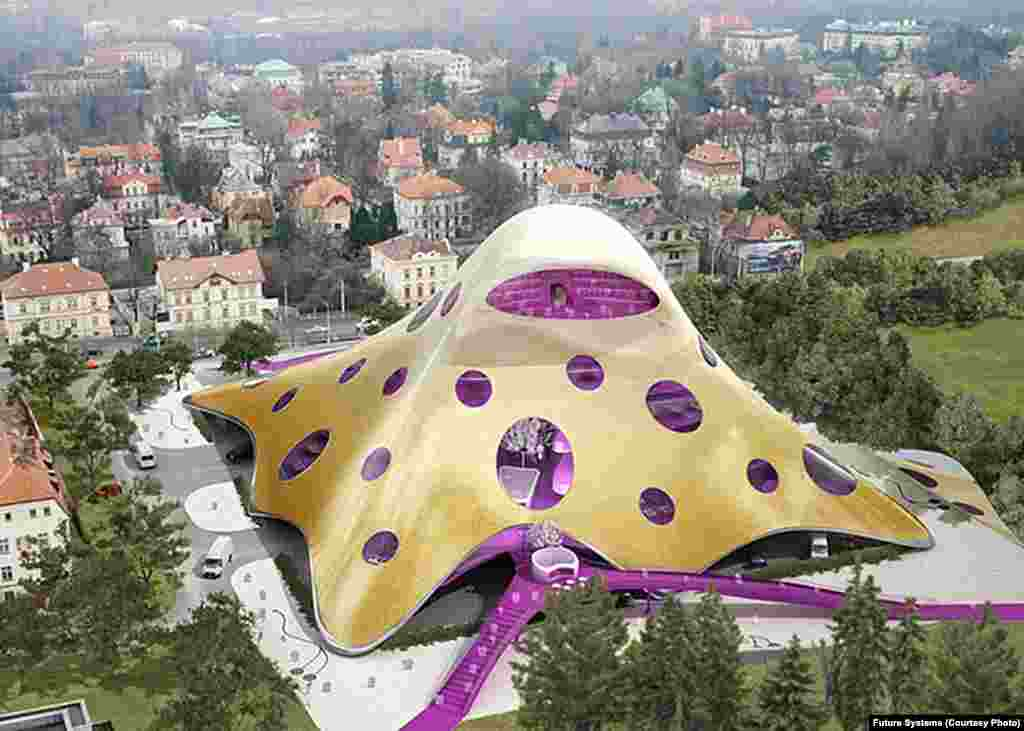 "Czech architect Jan Kaplicky's design for a new Czech National Library in Prague was widely criticized when it was unveiled in 2007. Often called ""The Blob"" or ""The Octopus,"" it was criticized by Czech President Vaclav Klaus, who was quoted as saying he would prevent the construction of the building with his own body if it came to that. The design was later dropped."
