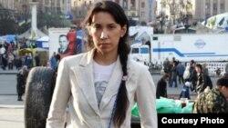 Оппозиционный журналист Наталья Садыкова в Киеве. 24 марта 2014 года.