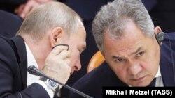 Владимир Путин ва Сергей Шойгу