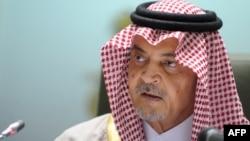 وزير الخارجية السعودي سعود الفيصل يتحدث في الرياض في 4/1/2013