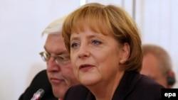 آنگلا مرکل، صدر اعظم و فرانک والتر اشتاینمایر، وزیر خارجه آلمان