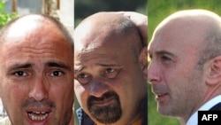 Обвиненные в шпионаже грузинские фотографы: Иракли Геденизе, Зураб Курцикидзе и Гиорги Абдаладзе