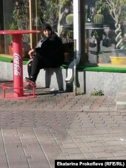 Беженка в центре Минска