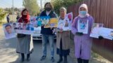 Kazakhstan - The protest of relatives of Xingiang's detainees. Almaty, 14 Oct 2021