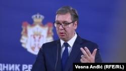 Српскиот претседател Александар Вучиќ.